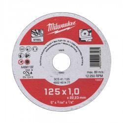 Discuri abrazive pentru taiat metal Milwaukee Contractor