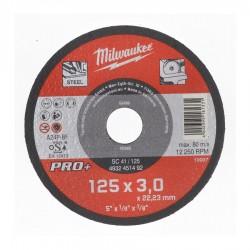 Discuri abrazive pentru taiat metal Milwaukee PRO+